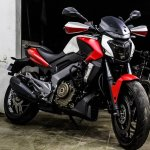 Bajaj Dominar 400 custom wrap by Dhana Stickers front three quarter