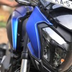Bajaj Dominar 400 wrap by Wrapcraft headlamp