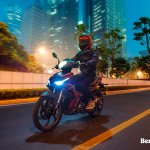 Benelli RFS150i motion front three quarter Malaysia launch