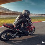 Benelli RFS150i motion lean at track right Malaysia launch