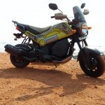 Honda Navi Goa Hunt Adventure front profile sea