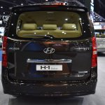 Hyundai H-1 Deluxe rear at 2017 Bangkok International Motor Show