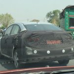 Hyundai Verna 2017 rear test spy shot India