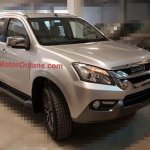 Isuzu MU-X front quarter spotted in India undisguised