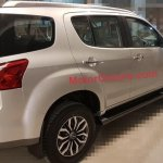 Isuzu MU-X rear three quarter spotted in India undisguised