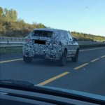 Jaguar E-Pace rear quarter spied testing in France