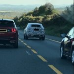Jaguar E-Pace rear spied testing in France