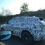 Jaguar E-Pace side spied testing in France