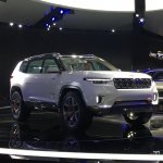 Jeep Yuntu concept front three quarters at Auto Shanghai 2017