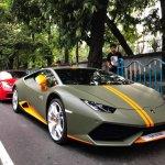 Lamborghini Huracan Avio front quarter snapped in Kolkata