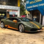 Lamborghini Huracan Avio front three quarter snapped in Kolkata