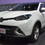 MG GS front three quarters left side at 2017 Bangkok International Motor Show