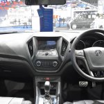 MG5 sedan dashboard at 2017 Bangkok International Motor Show