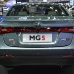 MG5 sedan rear at 2017 Bangkok International Motor Show
