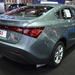 MG5 sedan rear three quarters at 2017 Bangkok International Motor Show
