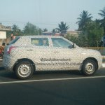 Mahindra S201 side base compact SUV spied testing