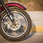 Maruti 800 Trailblazer custom motorcycle frotn wheel