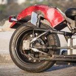 Maruti 800 Trailblazer custom motorcycle rear tyre