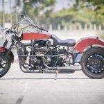 Maruti 800 Trailblazer custom motorcycle side view left