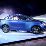 Maruti Dzire 2017 side profile from unveil