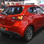 Mazda2 hatchback rear three quarters at 2017 Bangkok International Motor Show