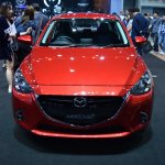Mazda2 sedan front at 2017 Bangkok International Motor Show