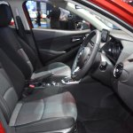 Mazda2 sedan front seats at 2017 Bangkok International Motor Show