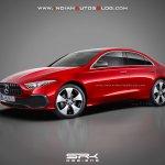 Mercedes A-Class sedan front three quarter rendering