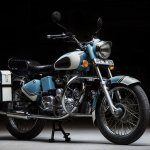 Royal Enfield Bullet 350 Standard Graduate by Eimor Customs front three quarter