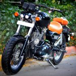 Royal Enfield Thunderbird 350 Bobber Boa by Puranam Designs front three quarter