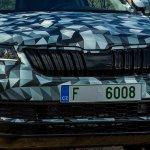 Skoda Karoq front fascia camouflaged