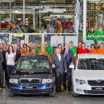 Skoda Superb 1 million production milestone