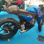 Suzuki GSX-R150 cafe racer rear three quarter