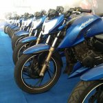 TVS Apache RTR 200 track experience at MMRT front suspension