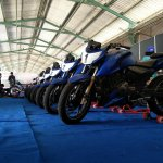 TVS Apache RTR 200 track experience at MMRT front view