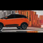 Tata Nexon orange left side