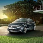 VW Vento Highline Plus front three quarters