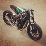 Yamaha R15 Tony 535 by Inline3 Cutom Motorcycles front three quarter