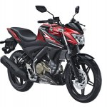 Yamaha V-Ixion front three quarter studio red