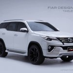 2016 Toyota Fortuner Fiar Design Body kit front three quarter Studio shots