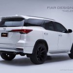 2016 Toyota Fortuner Fiar Design Body kit rear three quarter Studio shots