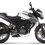 2017 Bajaj Pulsar NS200 white-grey