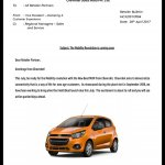 2017 Chevrolet Beat leaked memo second image