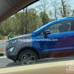 2017 Ford EcoSport (facelift) front end spied in India for the first time