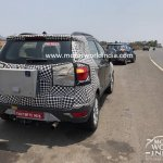 2017 Ford EcoSport (facelift) rear spied in India for the first time