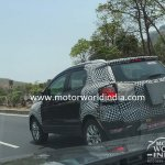 2017 Ford EcoSport (facelift) rear three quarter spied in India for the first time