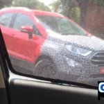 2017 Ford EcoSport front in Arpoadar Red spied testing