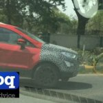2017 Ford EcoSport side in Arpoadar Red spied testing