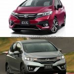 2017 Honda Jazz vs. 2013 Honda Jazz front three quarters