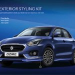 2017 Maruti Dzire exterior kit accessories revealed